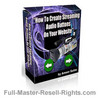 Ebook - How To Make Streaming Audio Buttons With Full Master Resale Rights