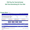 Thumbnail Php Pay Per Text Ad Script For Any Website