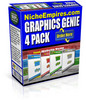 Thumbnail Graphics Genie 4 Pack Sales Pro Templates