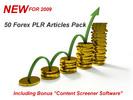 Thumbnail 50 Forex PLR MRR Articles For 2009