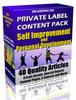 40 Self Improvement PLR Articles