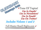 Thumbnail Clickbank Message Sets Volume 1 and 2 PLR