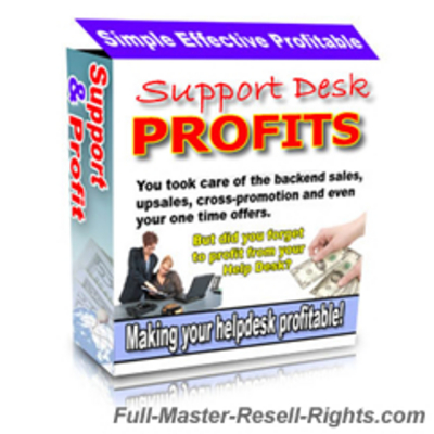 Product picture Support Desk Profits Script With Full Master Resale Rights