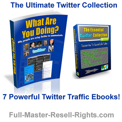 Product picture Ultimate Twitter Traffic - With PLR and Master Resale Rights