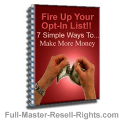 Product picture Optin List Building - Fire Up Your Optin Lists With Full Master Resale Rights