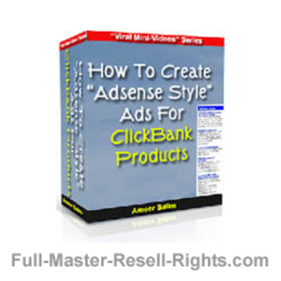 Product picture Create Adsense Style Ads For Click Bank! With Full Master Resale Rights