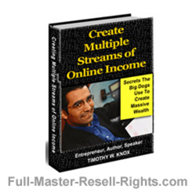 Product picture Ebook - How To Make Multiple Streams Of Income With Full Master Resale Rights