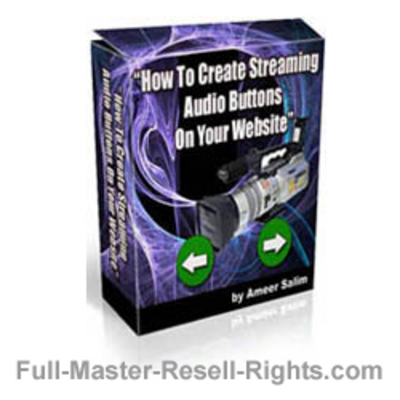 Product picture Ebook - How To Make Streaming Audio Buttons With Full Master Resale Rights