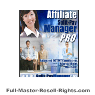 Product picture Affiliate Split Pay Manager With Full Master Resale Rights