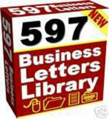 Product picture 597 Ready To Use PLR Business Letters With MRR
