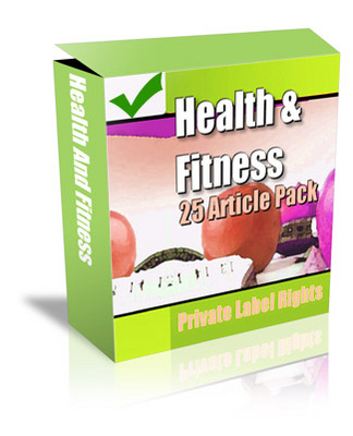 Product picture 25 Health And Fitness PLR Articles
