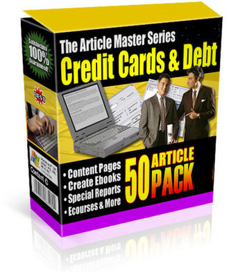 Product picture 30 PLR Credit Articles