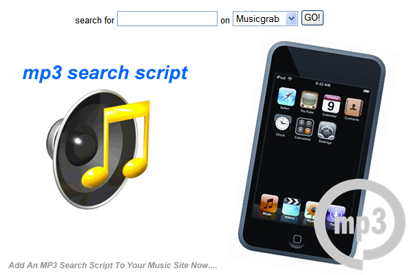 Product picture Instant MP3 Search Script
