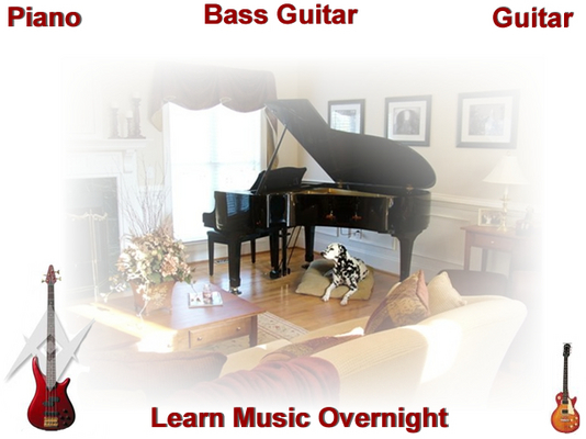Product picture Guitar, Bass guitar, Piano Learn Music Overnight