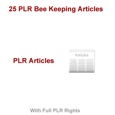 Product picture 25 PLR Bee Keeping Articles
